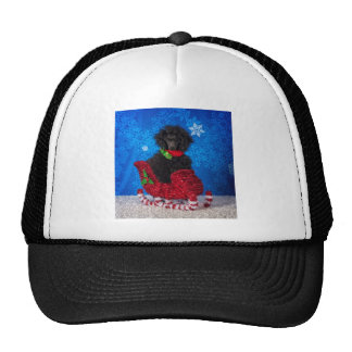 Christmas Poodle Trucker Hat
