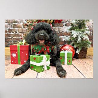 Christmas - Portuguese Water Dog - Yanda Poster