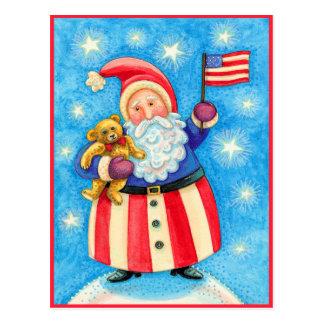 Christmas Postcard American Santa Claus
