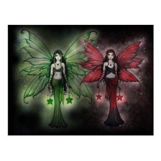 Christmas Postcard Fairy Sisters
