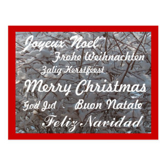 Christmas Postcard/Multiple Languages Postcard