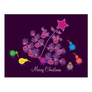 Christmas Postcards: Kiwi birds Postcard