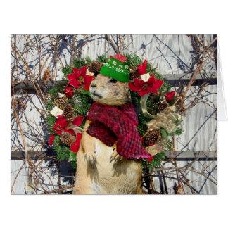 Christmas  Prairie Dog Card