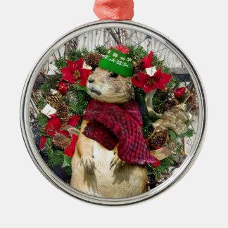 Christmas  Prairie Dog Metal Ornament
