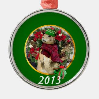 Christmas prairie dog ornament