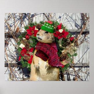 Christmas Prairie Dog Print