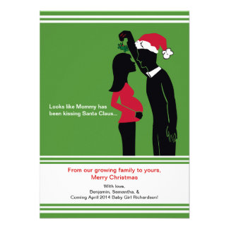 Christmas Pregnancy Announcements Cards - Mommy