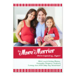 Christmas Pregnancy- Expecting Again Personalized Invitation