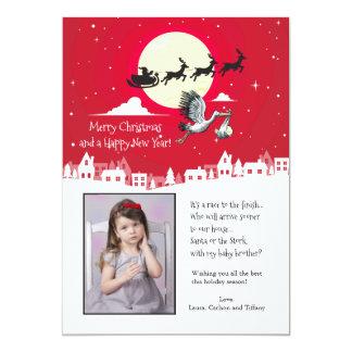 Christmas Pregnancy Photo Holiday Card