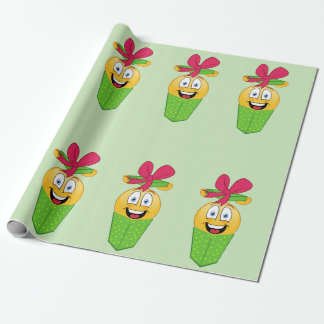 Christmas Present Emoji Wrapping Paper