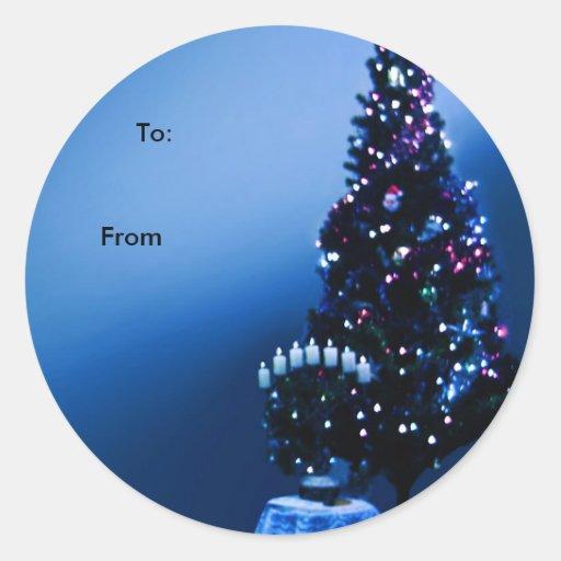 Christmas Present Name Tags Round Sticker | Zazzle