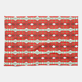 Christmas Present Plaid Kitchen Towel