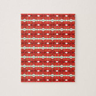 Christmas Present Plaid Puzzle