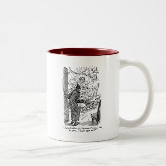 Christmas Present (with text) Two-Tone Coffee Mug