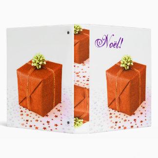Christmas Presents Orange Noel IV 3 Ring Binders