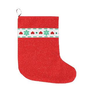 Christmas print large christmas stocking