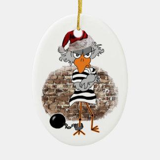 Christmas prison ceramic oval ornament