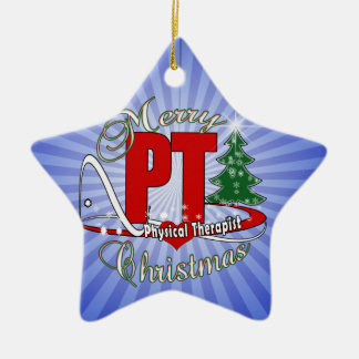 CHRISTMAS PT Physical Therapist Ceramic Star Ornament