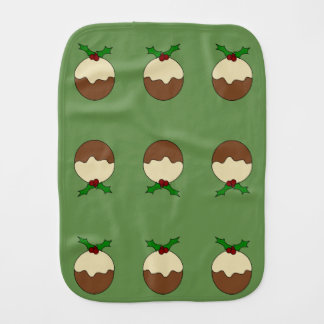 Christmas Pudding Burp Cloth