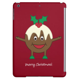 Christmas pudding cartoon character iPad air cases