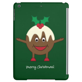 Christmas pudding cartoon character iPad air cover