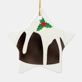 Christmas Pudding Ceramic Ornament