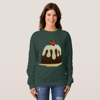 christmas puddings womens sweatshirt