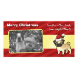 Christmas Pug Custom Photo Card