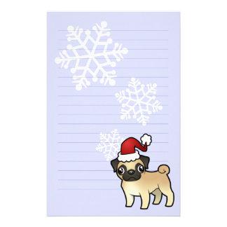 Christmas Pug Customized Stationery