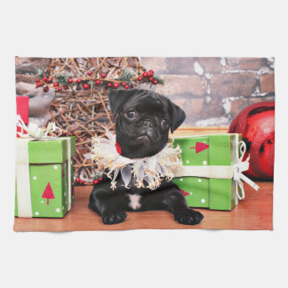 Christmas - Pug - Daisy Mae Kitchen Towel