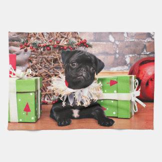 Christmas - Pug - Daisy Mae Kitchen Towels