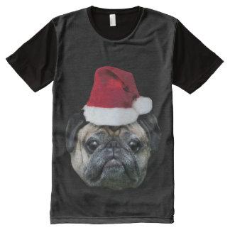 Christmas pug dog