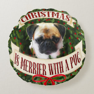 Christmas Pug Dog Pillow dog breeds personalized