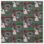 Christmas pug dogs pattern Fabric