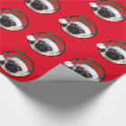 """Christmas Pug - Glossy Wrapping Paper, 30"""" x 6' Wrapping Paper"""
