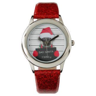 Christmas pug - mugshot dog - santa pug watch