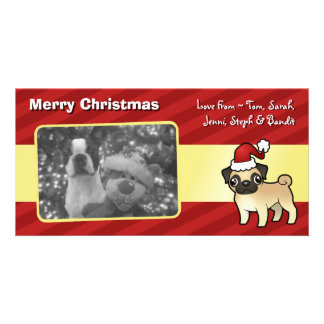 Christmas Pug Personalized Photo Card