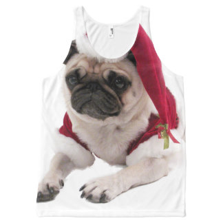 Christmas pug - santa claus dog - dog claus All-Over-Print tank top