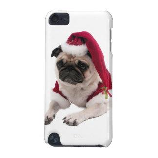 Christmas pug - santa claus dog - dog claus iPod touch 5G covers