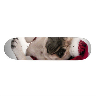 Christmas pug - santa claus dog - dog claus skate board decks