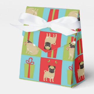 Christmas Pugs and Presents Favor Box