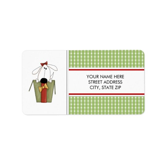Christmas Puppy Dog Address Mailing Labels
