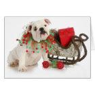 Christmas Puppy - English Bulldog Puppy Sitting Card
