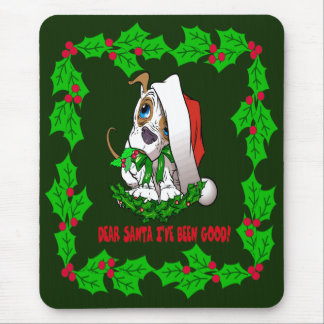 Christmas Puppy Mouse Pad