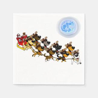 Christmas Pups Disposable Napkins