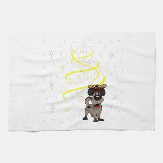 Christmas Pups Hand Towel