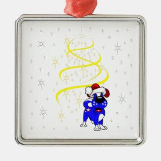 Christmas Pups Metal Ornament