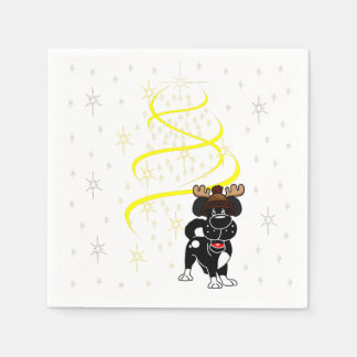 Christmas Pups Paper Napkin