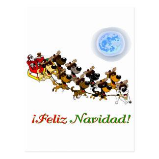 Christmas Pups Postcard