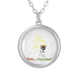 Christmas Pups Silver Plated Necklace